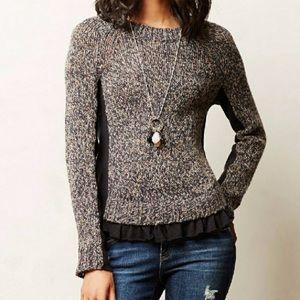 Anthropologie Moth Apsara Ruffle Sweater
